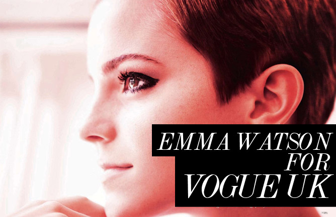 emma watson short hair photo shoot. Emma Watson for Vogue UK