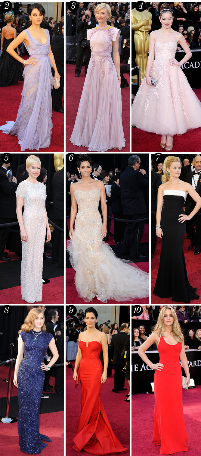 oscars best dressed 2 BEST DRESSED LIST