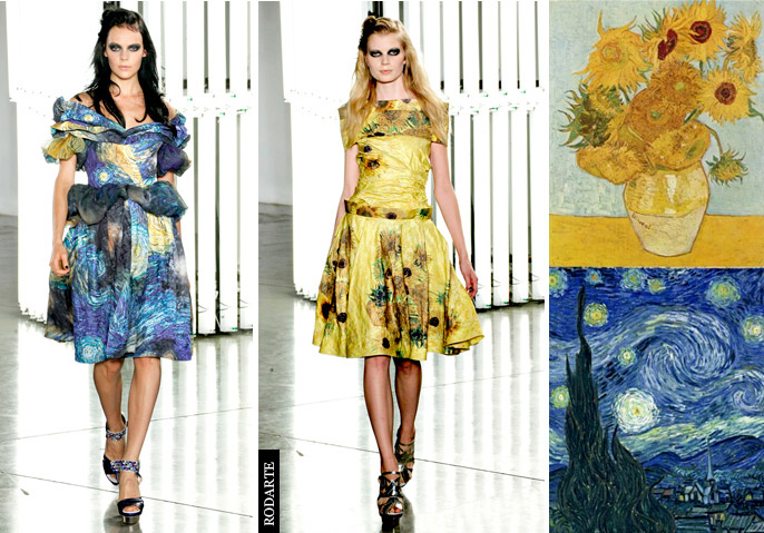 Fashion inspired by art: the