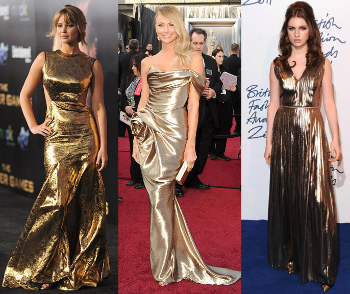 metallic gowns 1 Olympic Metallics