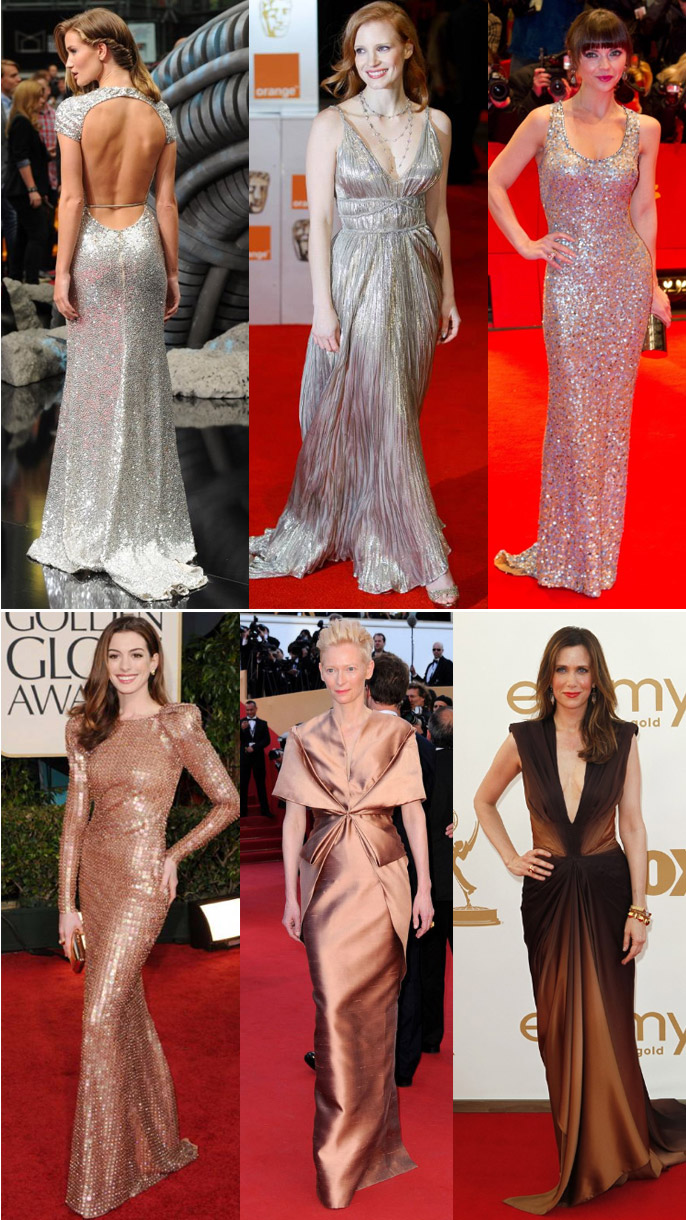 metallic gowns 3 Olympic Metallics