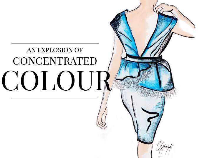 fashion illustrations colour trend An Explosion Of Colour