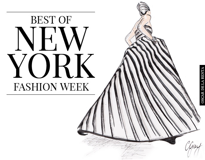 fashion illustrations oscar de la renta Best Of NY Fashion Wk