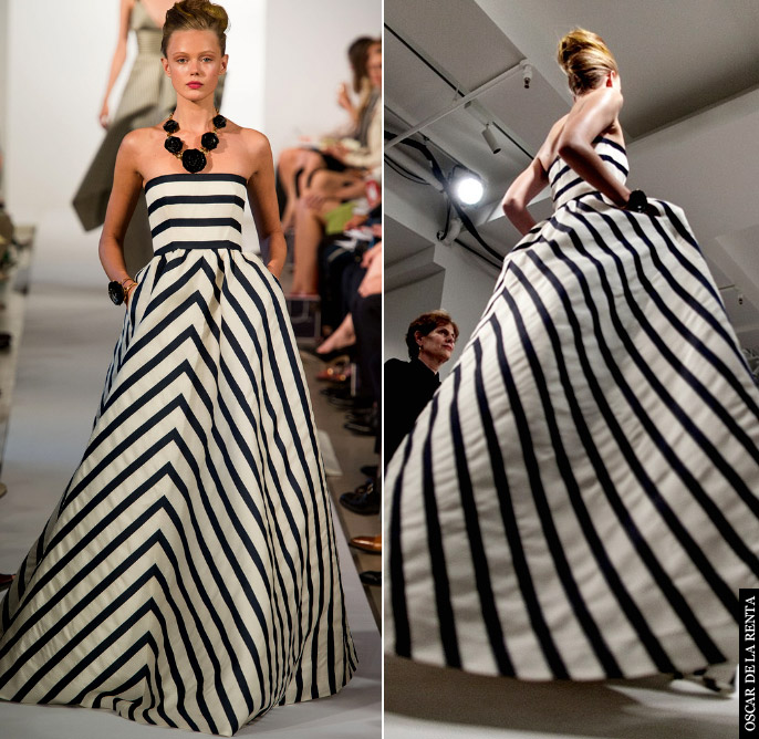 oscar de la renta striped ballgown2 Best Of NY Fashion Wk